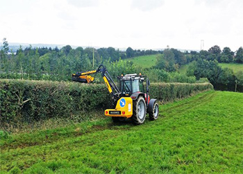 Flail hedge Cutting